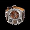Oulm Analog Dark Brown Leather Strap Four Sub-dials Men Watch 2