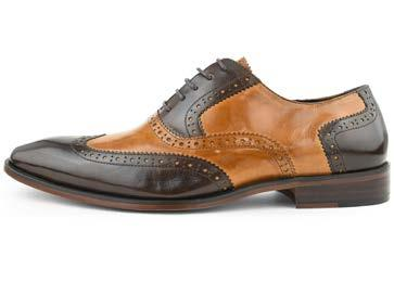 SMOOTH LEATHER WING TIP MULTI COLOR