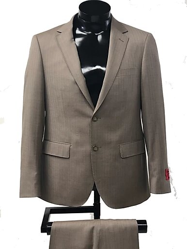 TWO BUTTON , NOTCH LAPEL, SIDE VENTS , FLAT FRONT PANT, WOOL AND CASHMERE