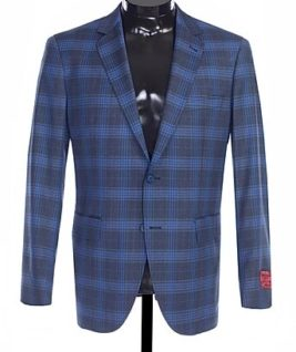 TWO BUTTON, NOTCH LAPEL, SIDE VENTS, 100% TROPICAL WOOL