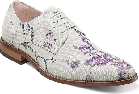 PLAIN TOE OXFORD PRINTED SUEDE LEATHER FULLY CUSHIONED MEMORY FOAM PG 10