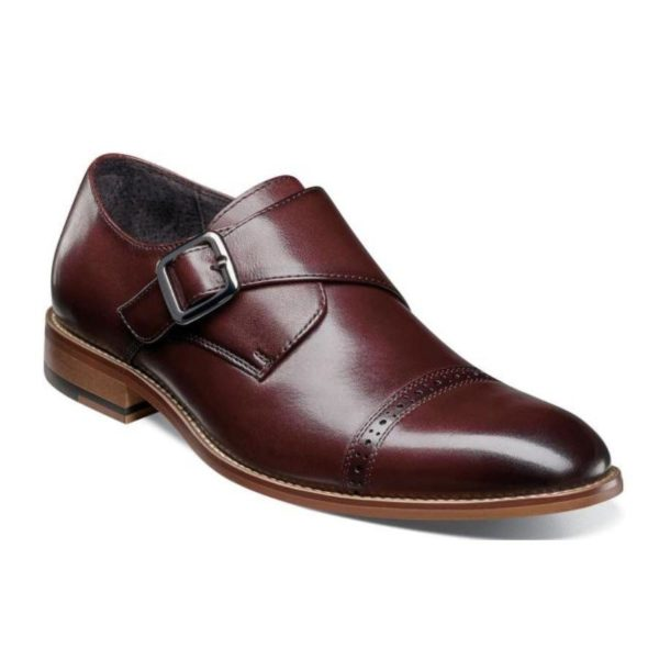 CAP TOE WITH MONK STRAP SMOOTH LEATHER FULLY CUSHIONED MEMORY FOAM