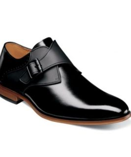 SINGLE MONK STRAP SMOOTH BURNISHED LEATHER FULLY CUSHIONED MEMORY FOAM PG 11
