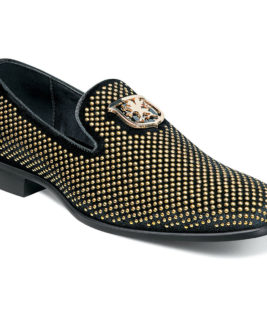 SLIP ON STUDDED FABRIC AND SATIN FABRIC FULLY CUSHIONED MEMORY FOAM PG 34